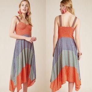 Anthro Maeve Vivienne Smocked Maxi Dress Size 6